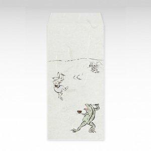 鳥獣食事戯画(鳥獣戯画)/お札用ぽち袋(大)3枚【和紙製】