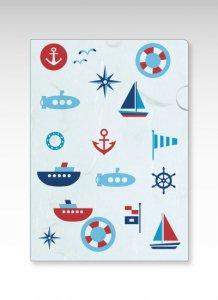 海の乗り物/ファイル(青色) 1枚