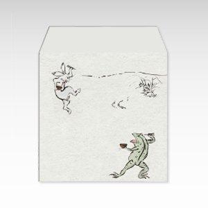 鳥獣食事戯画(鳥獣戯画)/コイン(硬貨)用ぽち袋(小)5枚