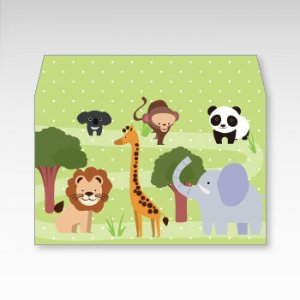 動物園/横型プチ封筒 5枚入