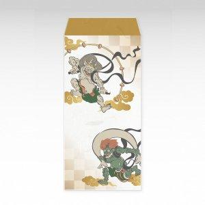 風神雷神/お札用ぽち袋(大)3枚【和紙製】