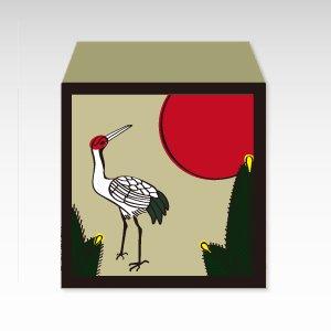 花札・松に鶴/コイン(硬貨)用ぽち袋(小)5枚『花札』