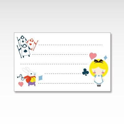 不思議の国のアリス/メッセージカード 10枚入