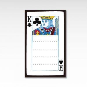クラブのキング/メッセージカード 10枚『トランプ』