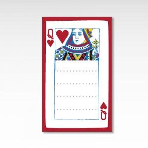 ハートのクイーン/メッセージカード 10枚『トランプ』