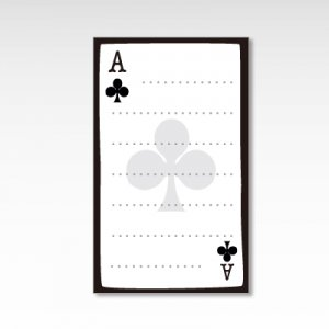 クラブのエース/メッセージカード 10枚『トランプ』