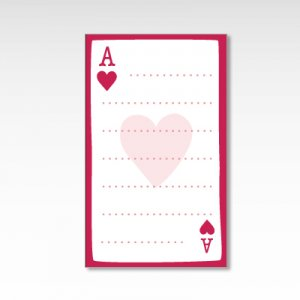 ハートのエース/メッセージカード 10枚『トランプ』