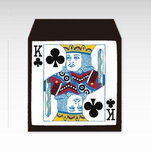 クラブのキング/コイン(硬貨)用ぽち袋(小)5枚『トランプ』