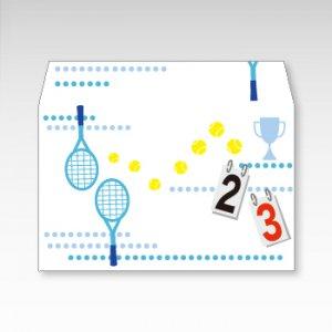 スマッシュ!テニス/お札用ぽち袋(中)5枚【横型ぷち封筒】