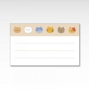 ニャーフェイス/メッセージカード 10枚入