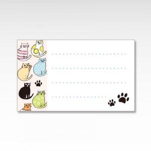 おしゃれキャット(猫)/メッセージカード 10枚