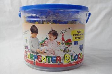 知育おもちゃ カーペンターブロック 大バケツ 4色