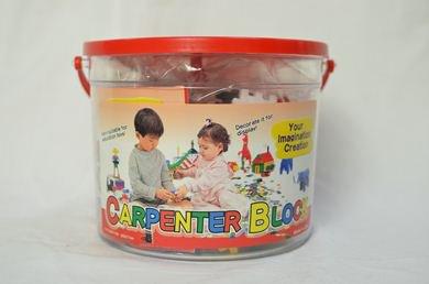 知育おもちゃ カーペンターブロック 大バケツ 6色