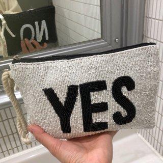 YES/NO ビーズクラッチ S