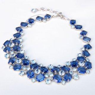 Christian Dior ブルー ラインストーン ネックレス