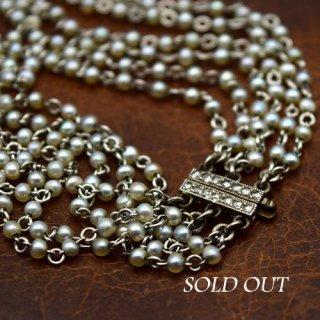 アンティーク パール ダイヤモンド プラチナ ゴールド ブレスレット