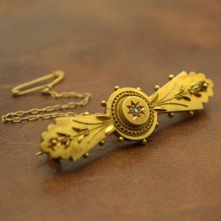 アンティーク ダイヤモンド 15ctゴールド ブローチ