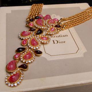 Christian Dior ペイズリーネックレス
