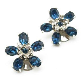 Christian Dior ブルーフラワー イヤリング
