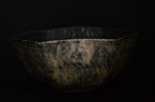 井内素/黒白・六角大鉢