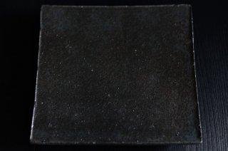 井内 素/黒・正方板皿(大)