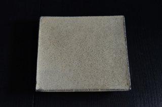 井内 素/黒と白・正方板皿(小)