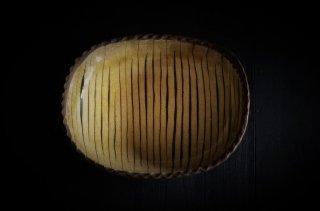 山田洋次/スリップ・楕円深皿(中)