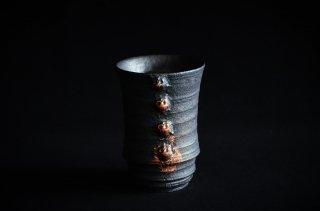 濱中史朗/カップ/摩黒・スカル・銅箔