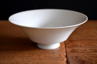 河合正光/白磁 浅茶碗