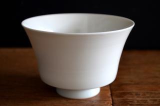 河合正光/白磁 茶碗(大)