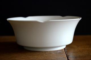 河合正光/白磁 輪花鉢