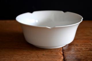 河合正光/白磁 輪花小鉢
