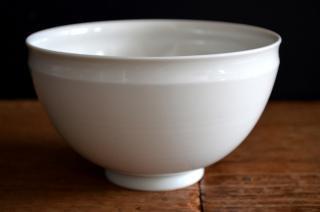 河合正光/白磁 深鉢