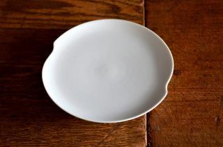 河合正光/白磁 小皿