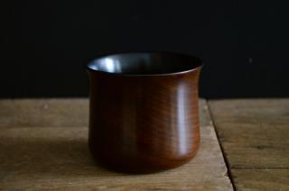 富井貴志/コーヒーカップ(ブラックウォルナット/拭漆)