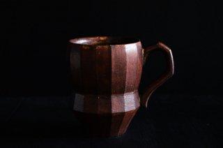宇野有哉/手付きマグカップ(茶)