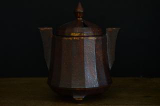 宇野有哉/香炉(茶・耳付)