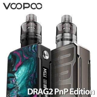 <img class='new_mark_img1' src='https://img.shop-pro.jp/img/new/icons15.gif' style='border:none;display:inline;margin:0px;padding:0px;width:auto;' />VOOPOO 「DRAG 2 with PnP Pod Tank Edition」 ドラッグ2 BOXスターターキット デュアル 電子タバコ本体 ポッドタンク仕様