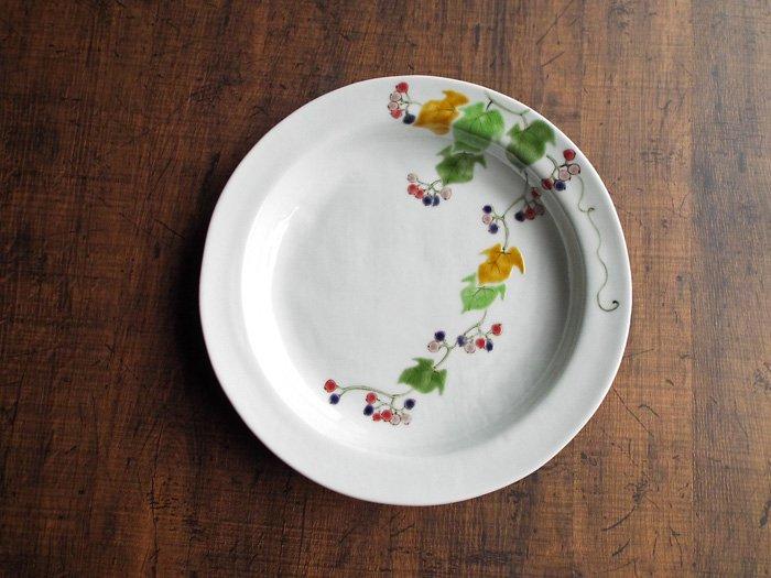 野ぶどう 黄 大皿