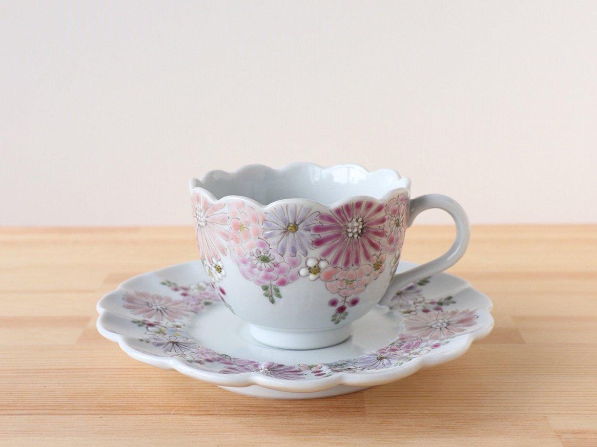 花憐 ピンク 碗皿