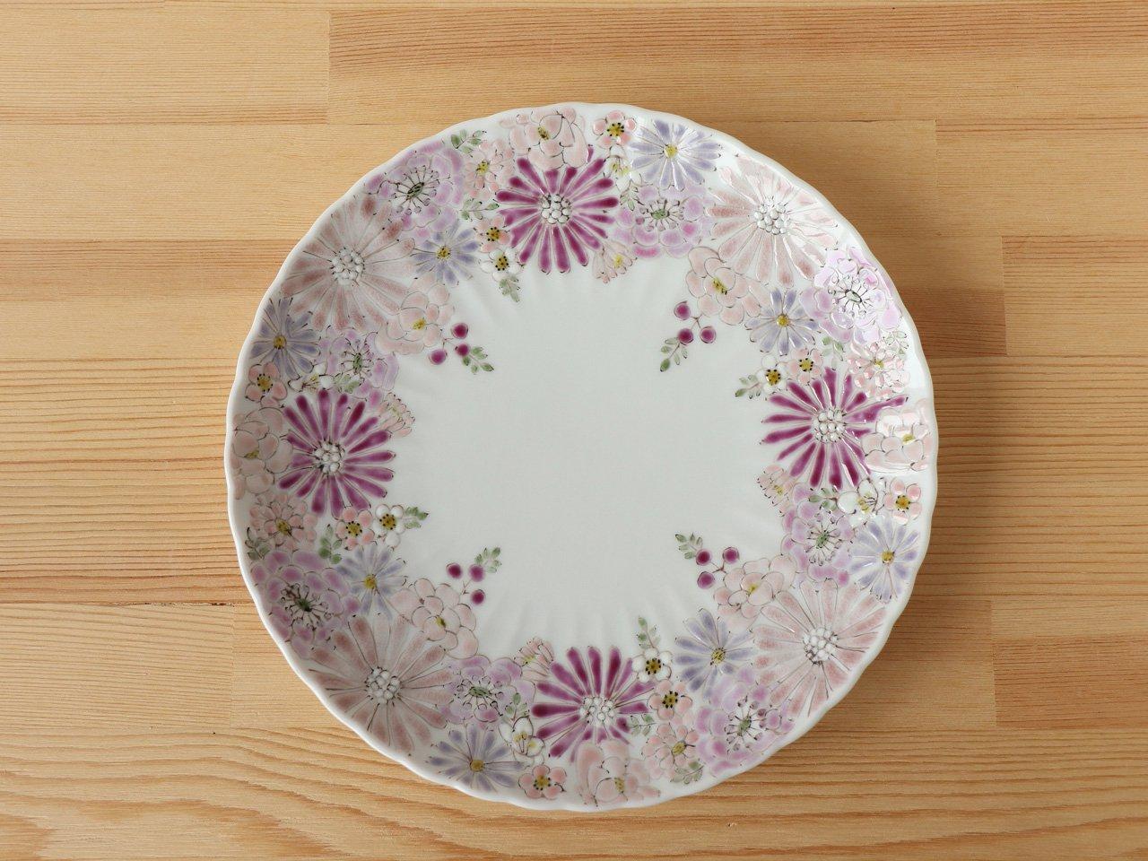 花憐 ピンク 菊皿