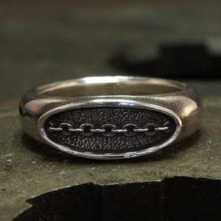 Bond Ring (M) Silver Plate