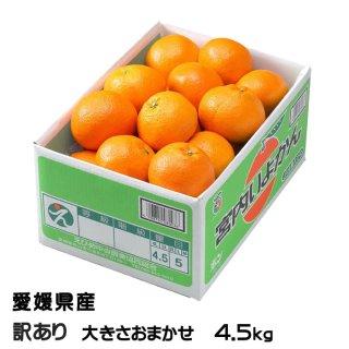 みかん 宮内伊予甘 風のいたずら 訳あり 4L〜3L 4.5kg JAえひめ中央 中島産 ミカン 蜜柑 いよかん