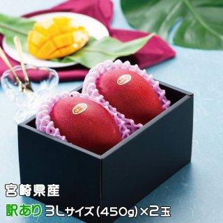 マンゴー みやざき完熟マンゴー 風のいたずら 訳あり 3Lサイズ×2玉 宮崎県産 【4月20日より順次発送】