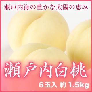 瀬戸内白桃 6玉入 約1.5kg