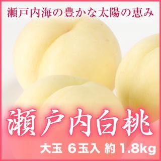 瀬戸内白桃 大玉6玉入 約1.8kg