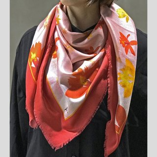Hanagraphic scarf Epidendrum (Red)