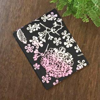 花グラフィック手ぬぐい ハナブヨウ(黒)