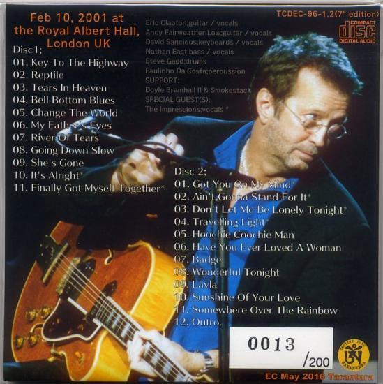 7 Quot Edition Eric Clapton Quot 2001 Last Night At Rah