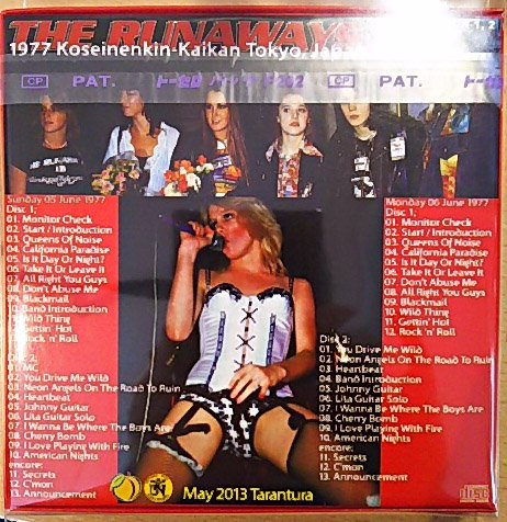 Promo Edition The Runaways Quot Queens Of Noise In Japan